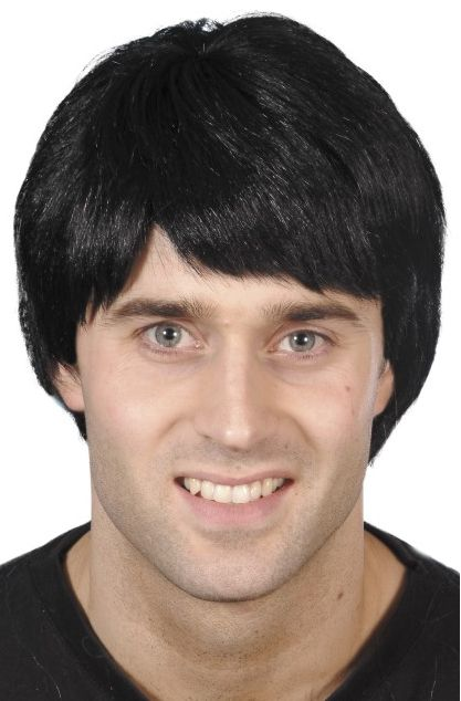 Men's Short Black Wig