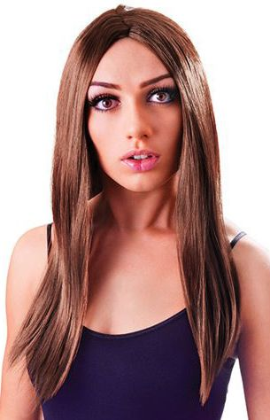 Long Brown Witch Wig - 46cm