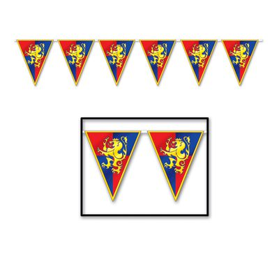 Medieval  'All Weather' Bunting - 3.7m (12') - 12 flags