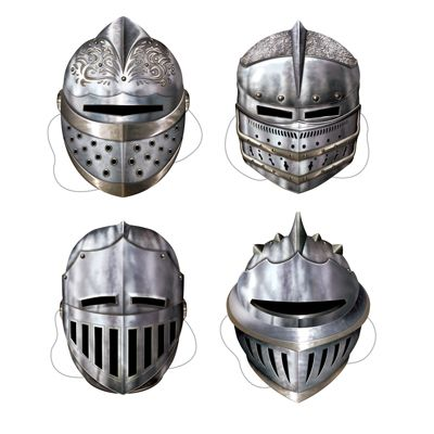 Knights Card Mask - Pack of 4