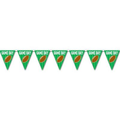 American Football Game Day Plastic Bunting - 3.7m - 12 Flags