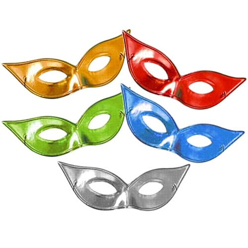 Assorted Colour Metallic Flyaway Eye Mask