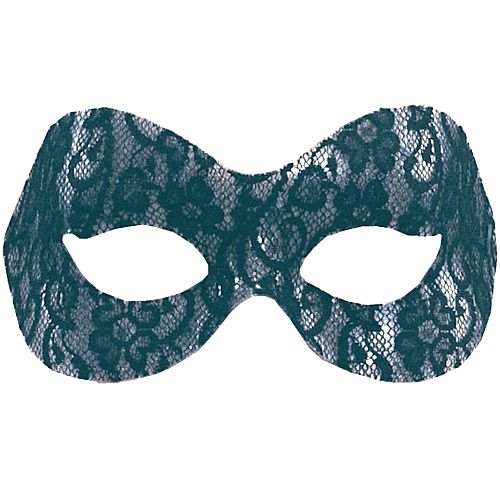 Black Lace Domino Eye Mask