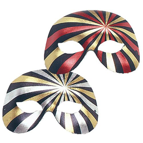Assorted Half Face Metallic Striped Mask