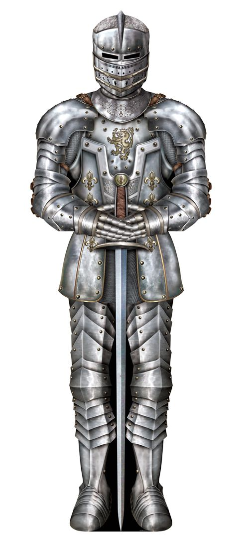 Suit of Armour Jointed Cutout Wall Decoration - 1.82cm