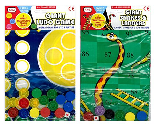 Giant Ludo/Snakes & Ladders - Each
