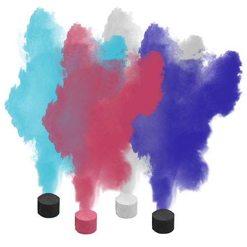 Smoke Bombs - Assorted Colours - Pack of 2