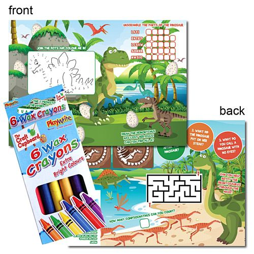Dinosaur Activity Pack - Pack of 100