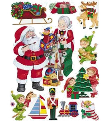 Click to view product details and reviews for Santas Workshop Cling Decorations 43cm Sheet Of 11.