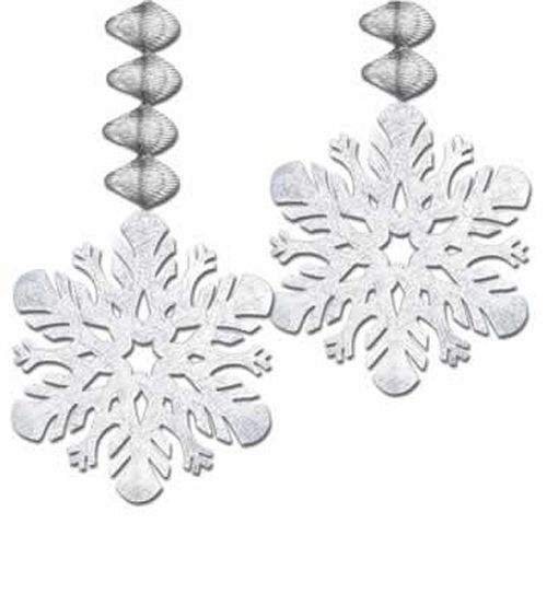 Snowflake Danglers - Pack of 2 - 30""