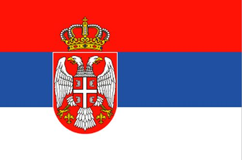 Serbia Cloth Flag - 5' X 3'