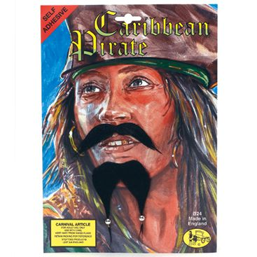 Caribbean Pirate Beard & Moustache Set