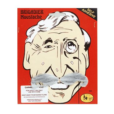 Brigadier Style Moustache - Self Adhesive