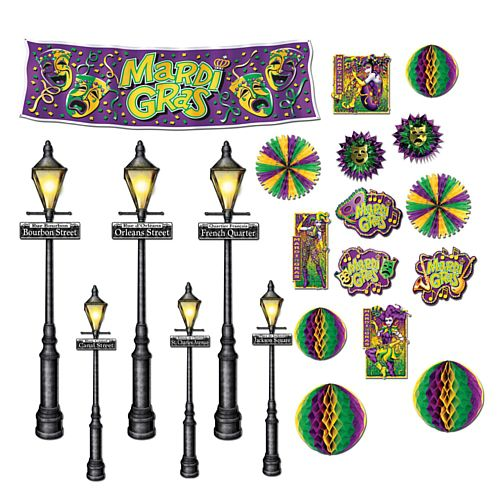 "Mardi Gras Street Light Props 8"" - 46"""