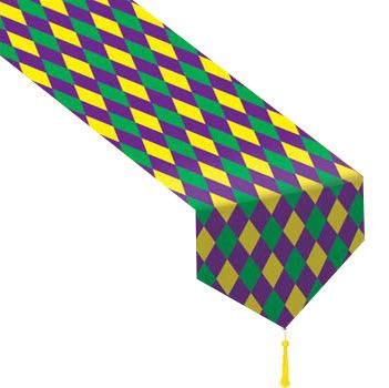 Mardi Gras Paper Table Runner - 1.83m