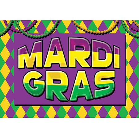 Click to view product details and reviews for Mardi Gras Sign Poster A3.