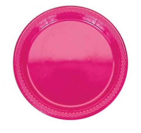 Click to view product details and reviews for Hot Pink Plastic Plate Pack Of 20 9.