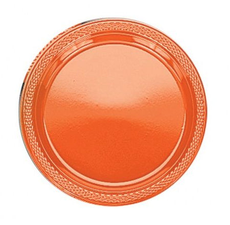 Bittersweet Orange Plastic Plate - Pack of 20 - 9