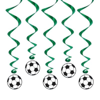 Hanging Football Whirls 100cm - Pack of 5