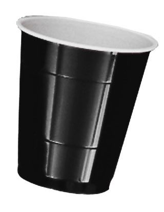Black Plastic Cups - Pack of 20 - 355ml