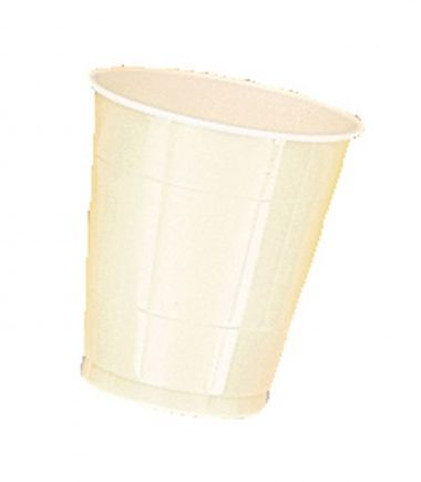 Ivory Plastic Cups - Pack of 20 - 355ml