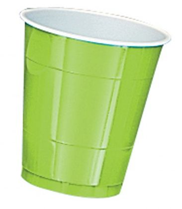 Lime Green Plastic Cups - Pack of 20 - 355ml