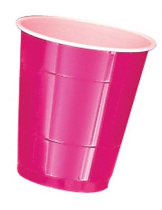 Hot Pink Plastic Cups - Pack of 20 - 355ml