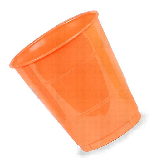 Bittersweet Orange Plastic Cups - Pack of 20  - 355ml