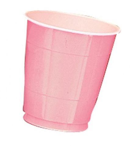 Light Pink Plastic Cups - Pack of 20 - 355ml