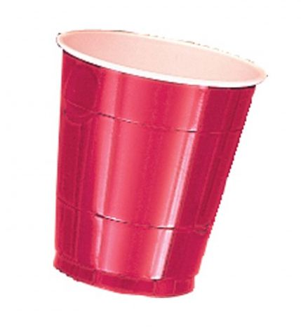 Red Plastic Cups - Pack of 20 - 355ml