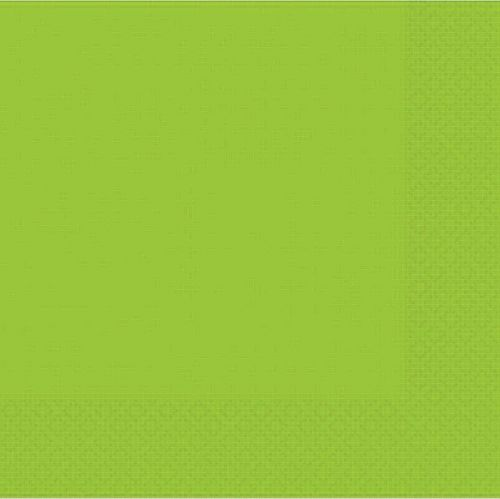 Lime Green 2 Ply Luncheon Napkins - Pack of 20 - 33cm