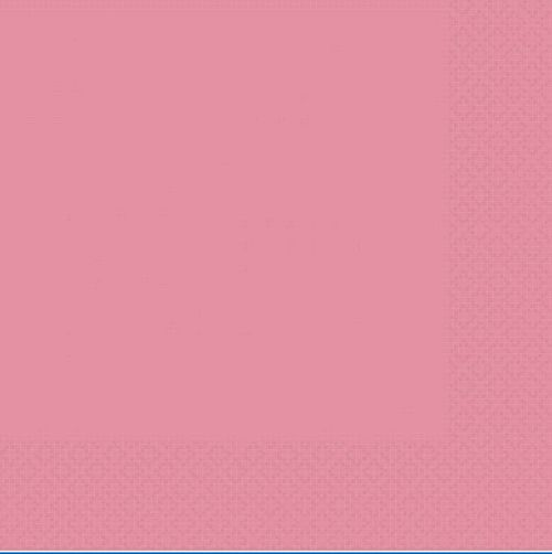 Light Pink 2 Ply Luncheon Napkins - Pack of 20 - 33cm
