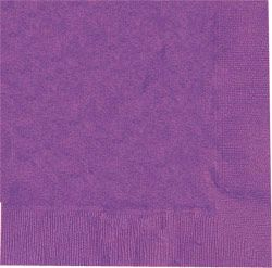 Purple 2 Ply Luncheon Napkins - Pack of 20 - 33cm