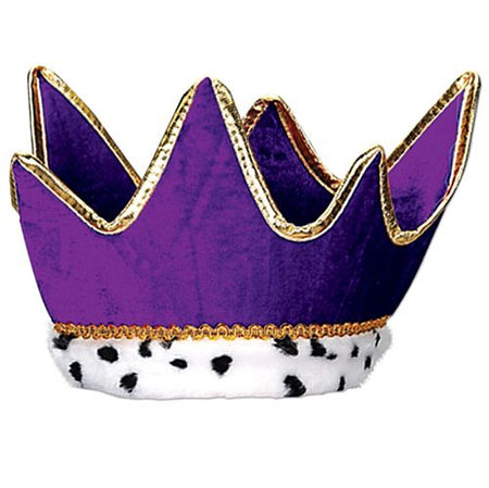 Plush Purple Crown