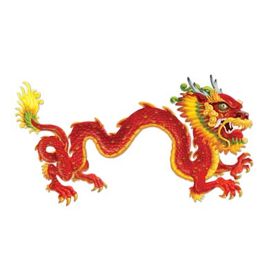 Chinese Dragon Jointed Cutout Wall Decoration - 1.8m
