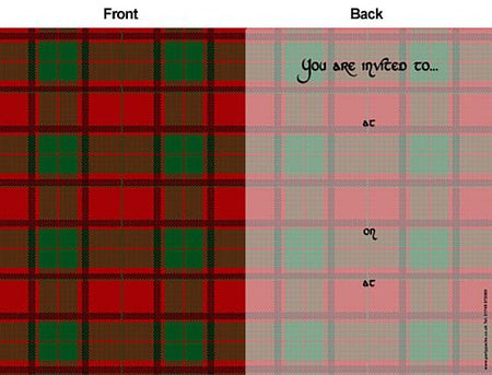 Red Tartan Invites - Pack of 8