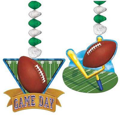 American Football Dangler Decorations - Pack of 2 - 30""
