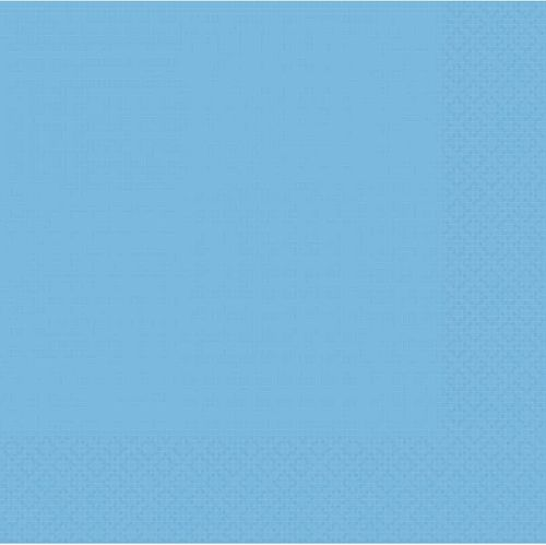 Light Blue 2 Ply Dinner Napkins - Pack of 20 - 40cm