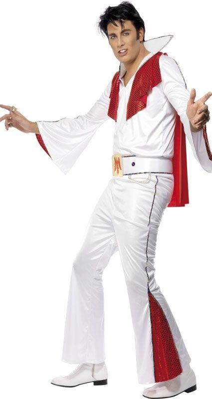 White and Red Elvis Costume