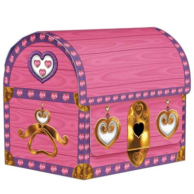 Princess Treasure Chest Favour Boxes - Pack of 4 - 10.2cm