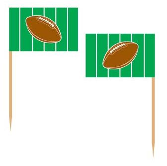 American Football Flag Picks - Pack of 50
