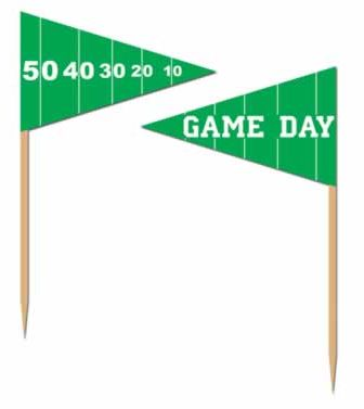 American Football Game Day Food Picks - Pack of 50