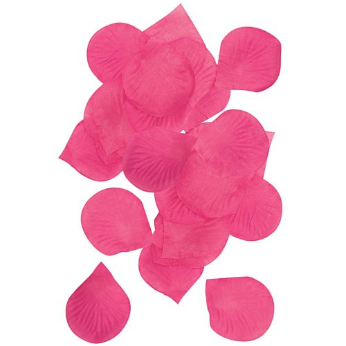 Hot Pink Silk Rose Petals - Pack of 150
