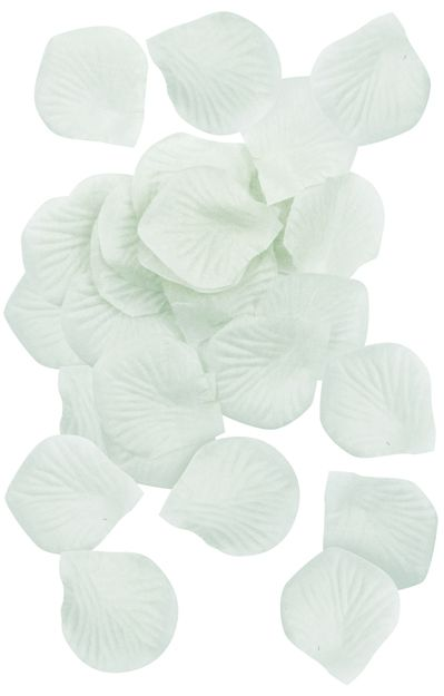 White Silk Rose Petals - Pack of 150