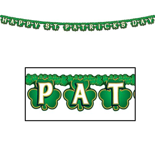 Shamrock 'Happy St Patrick's Day' Streamer