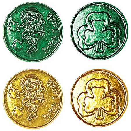Click to view product details and reviews for Green And Gold Lucky Leprechauan Shamrock Plastic Coins Pack Of 40.