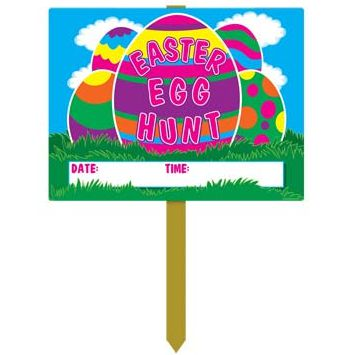 Easter Egg Hunt Garden Sign - 55cm