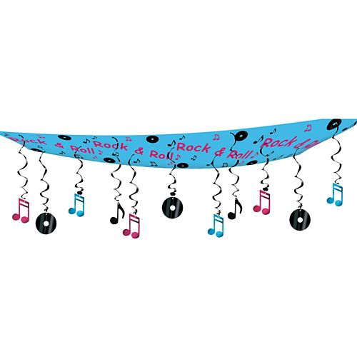 Rock & Roll Ceiling Decoration - Each - 12' X 12""