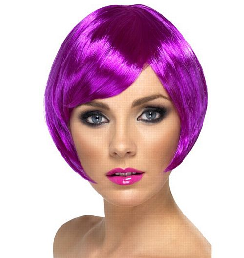 Purple Babe Bob Wig
