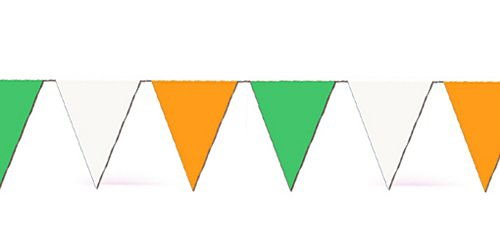 Orange, White and Green Bunting - 7m